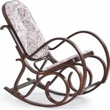 Stylowy Fotel bujany drewniany MAX II orzech Halmar do salonu.