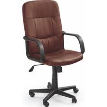 Fotel biurowy pracowniczy DENZEL ciemno brązowy Halmar do biurka.