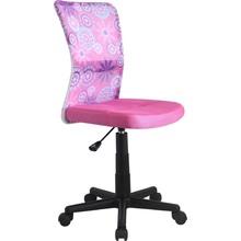Fotel młodzieżowy do biurka DINGO różowy Halmar.