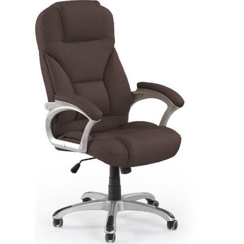 DESMOND fotel gabinetowy ciemny brąz