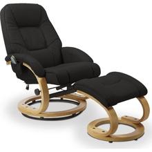 Stylowy Fotel wypoczynkowy MATADOR czarny Halmar do salonu.