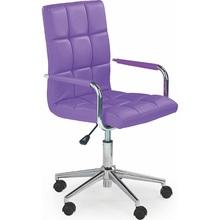 Fotel młodzieżowy do biurka GONZO II fioletowy Halmar.