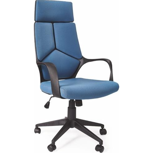 Fotel gabinetowy biurowy VOYAGER niebieski Halmar do biurka.