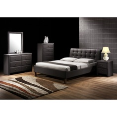 SAMARA łóżko czarne Halmar