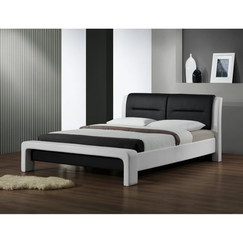 CASSANDRA 160 cm łóżko biało-czarny