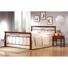 VERONICA łóżko 160 cm czereśnia ant./czarny