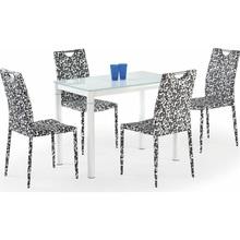 Stół szklany prostokątny ARGUS 100x60 mleczny/biały Halmar do kuchni.