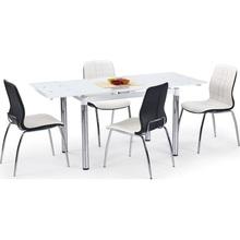 Stół rozkładany szklany L31 110x74 biały/chrom Halmar do kuchni.
