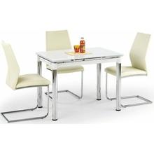 Stół rozkładany szklany LOGAN II 96x70 biały/chrom Halmar do kuchni.