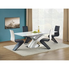 SANDOR stół rozkładany biały lakierowany