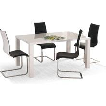 Stół rozkładany lakierowany RONALD 120x80 biały Halmar do kuchni.