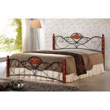 Stylowe Łóżko drewniane VALENTINA 160 czereśnia antyczna Halmar do sypialni.