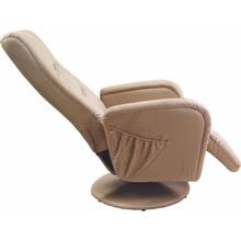 PULSAR recliner z funkcją masażu i podgrzewania beżowy