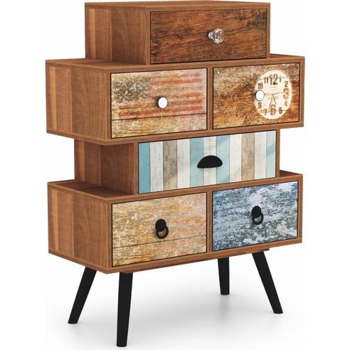 Komoda vintage z szufladami MEZO KM2 63 multikolor Halmar do sypialni i salonu.