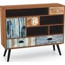 Komoda vintage z szufladami MEZO KM3 93 multikolor Halmar do sypialni i salonu.