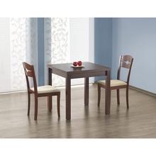 Stół rozkładany kwadratowy GRACJAN 80x80 ciemny orzech Halmar do kuchni.