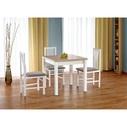 Stół rozkładany skandynawski GRACJAN 80x80 dąb sonoma/biały Halmar do kuchni.