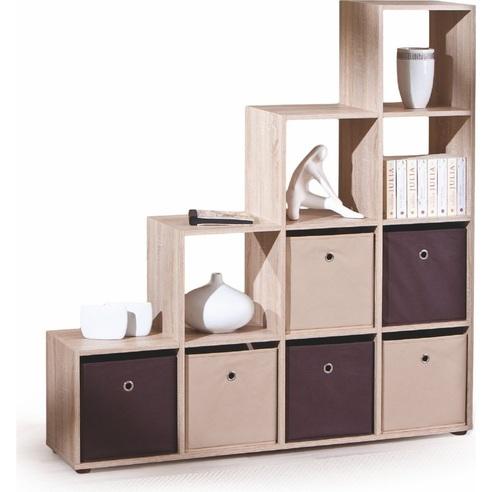 Stylowy Regał z półkami LUINI dąb sonoma Halmar na książki do sypialni i salonu.