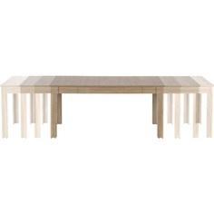 SEWERYN 160/300 cm stół kolor dąb sonoma / biały