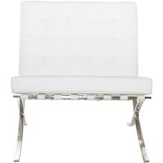 Fotel BA1 skóra biała TP
