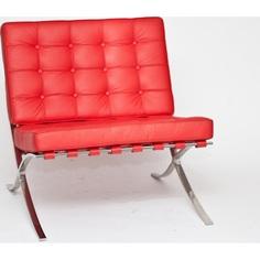 Fotel BA1 skóra czerwona