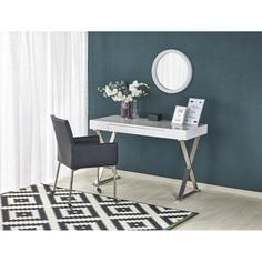 B31 biurko biały-chrom