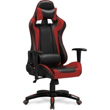DEFENDER fotel gabinetowy czarno-czerwony