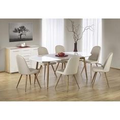 EDWARD stół rozkładany ciemny dąb sonoma / biały