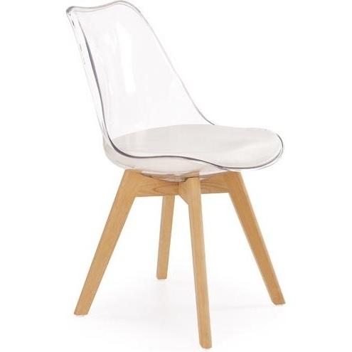 K246 krzesło bezbarwny / buk