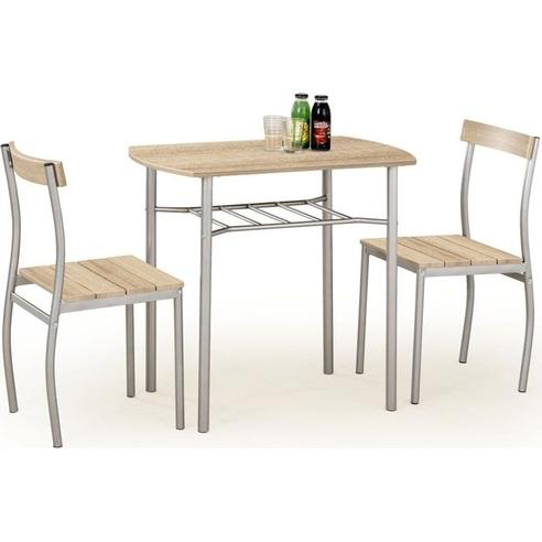 Zestaw stół + 2 krzesła LANCE dąb sonoma Halmar do kuchni.