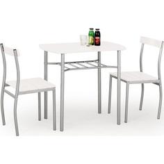 LANCE zestaw: stół + 2 krzesła, biały