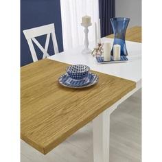 LEONARDO stół biały / dąb miodowy