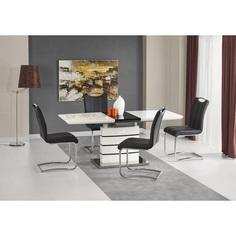 NORD stół biało-czarny