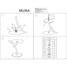 Stolik Muna chrom