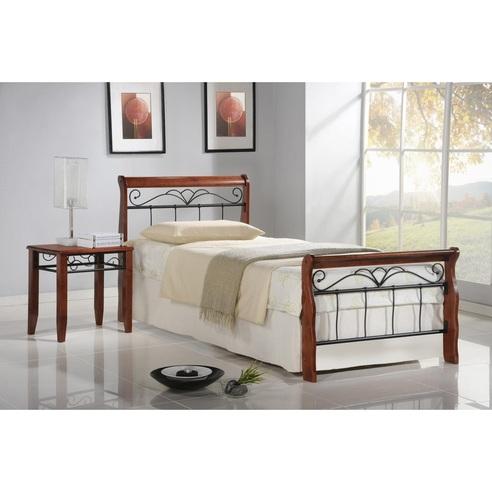 VERONICA łóżko 90 cm czereśnia ant./czarny
