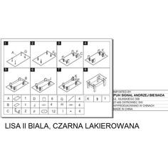 Ława Lisa II czarny