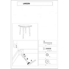 Stół Larson biały + dąb