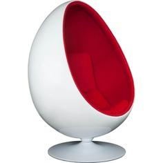 Fotel Ovalia Chair biało czerwony
