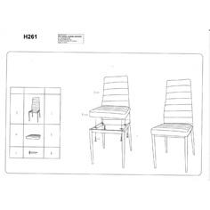 Krzesło H-261 szary