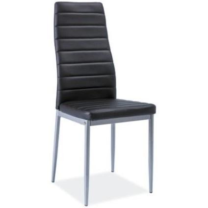 Krzesło H-261 bis alu czarny / aluminium