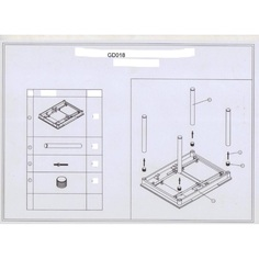 Stół GD-018 szary