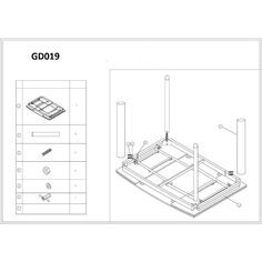 Stół GD-019 biały