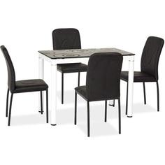 Stół Damar biały/czarny