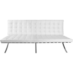 Sofa BA2 2 osobowa, biała skóra TP