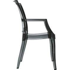Krzesło ARTHUR czarne przezroczyste