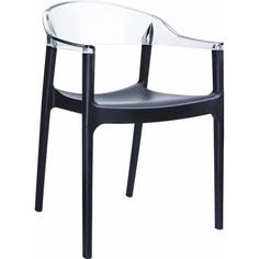 Krzesło CARMEN czarne / przezroczyste