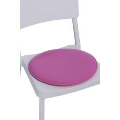 Poduszka na krzesło okrągła różowa