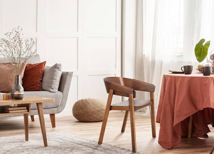 Designerskie krzesło drewniane z podłokietnikami Lincoln