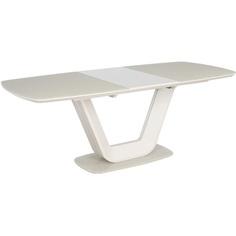 Szklany stół Armani Kremowy mat 160 Signal