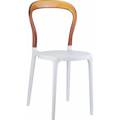 Krzesło MR BOBO białe/bursztynowe przezroczyste Siesta